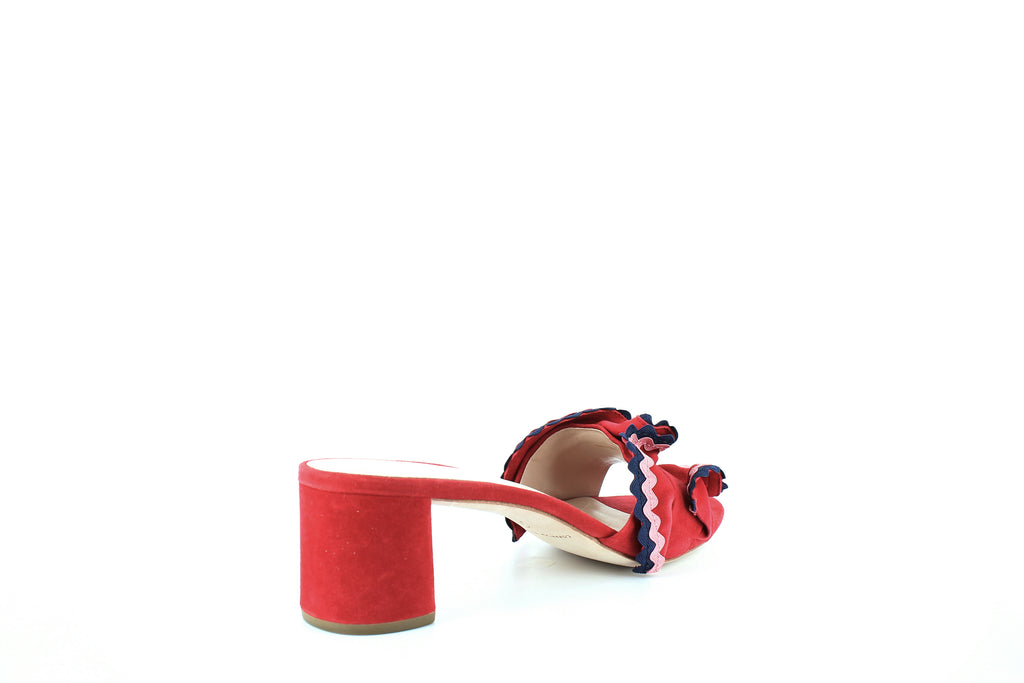 Yieldings Discount Shoes Store's Vera Block Heel Sandals by Loeffler Randall in Bright Red