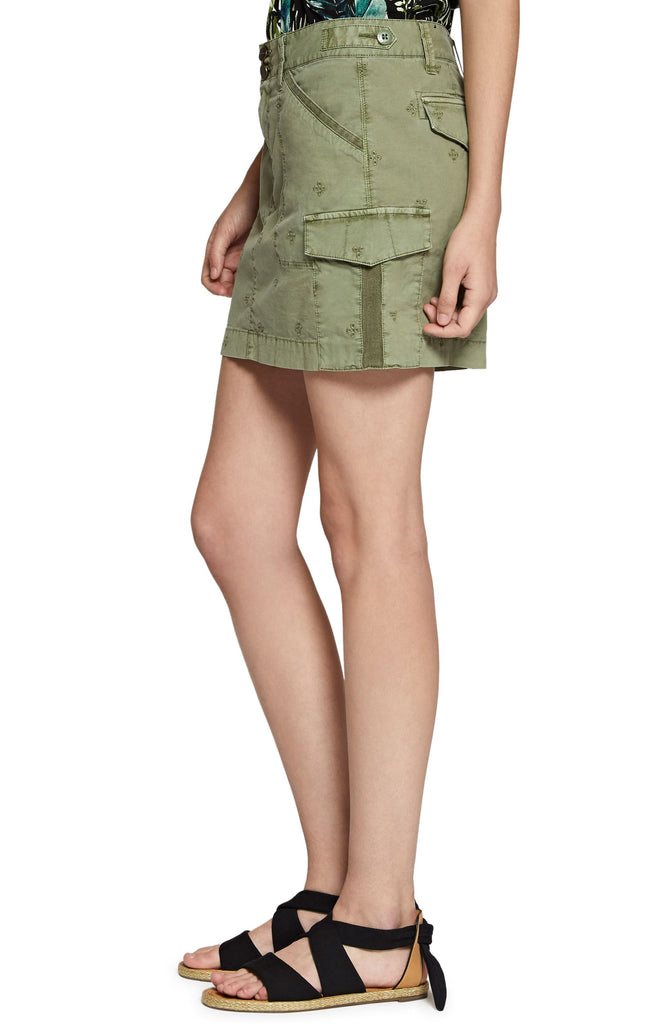 Yieldings Discount Clothing Store's Forward March Cotton Utility Shorts by Sanctuary in Washed Cadet
