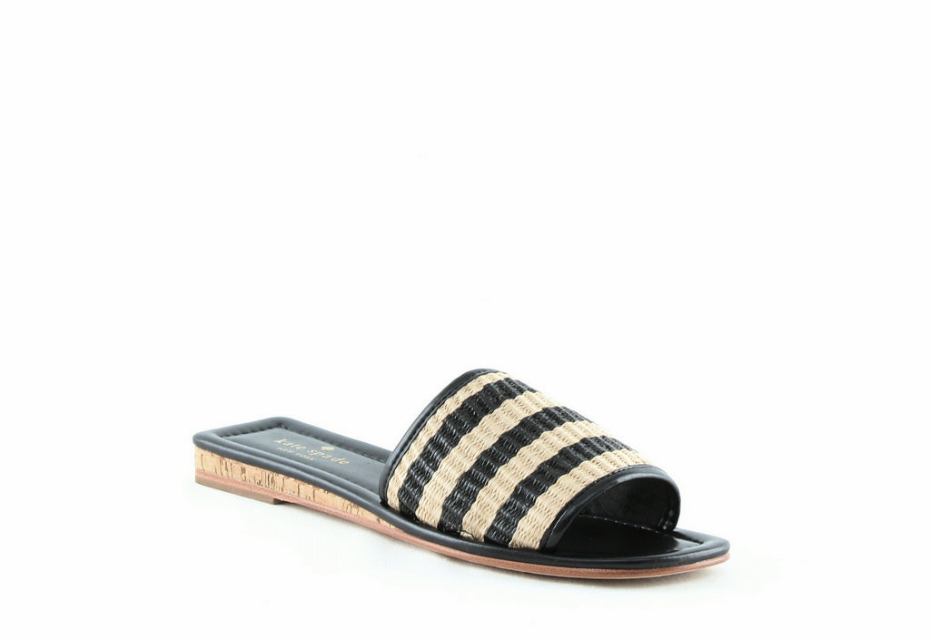Yieldings Discount Shoes Store's Juiliane Slides by Kate Spade in Natural/Black