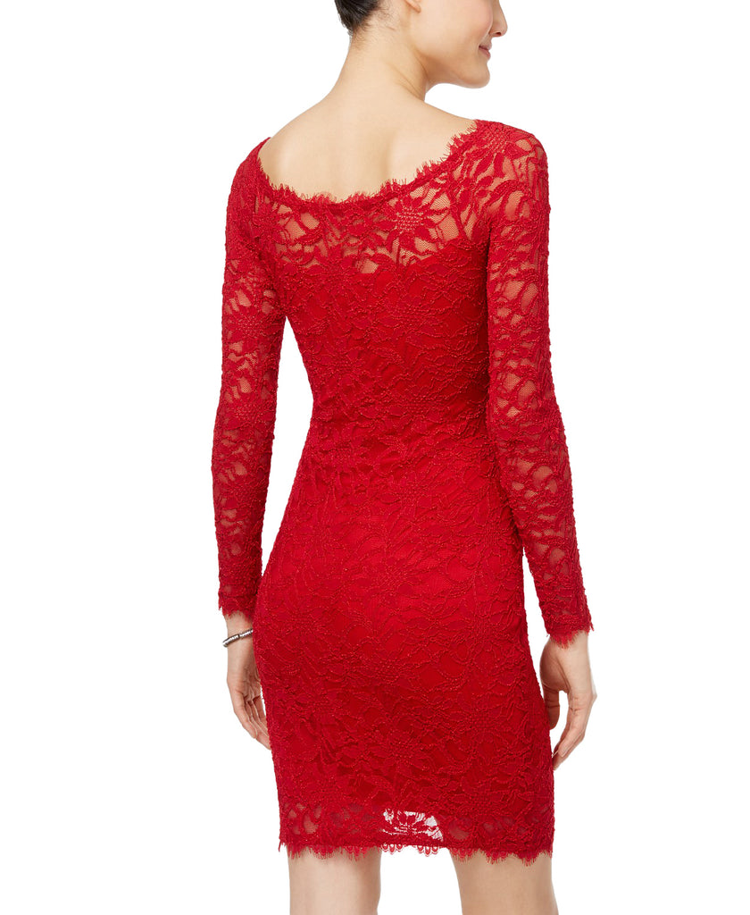Yieldings Discount Clothing Store's Juniors' Lace Sheath Dress by Jump in Red