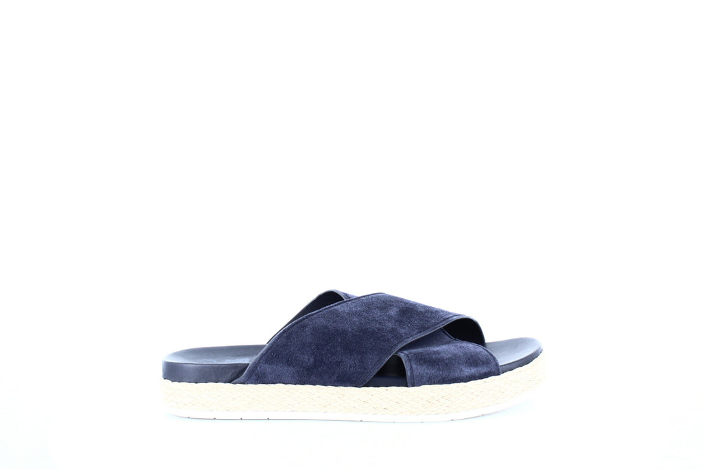 Yieldings Discount Shoes Store's Villaire Espadrille Slide Sandals by Vince in Deep Blue
