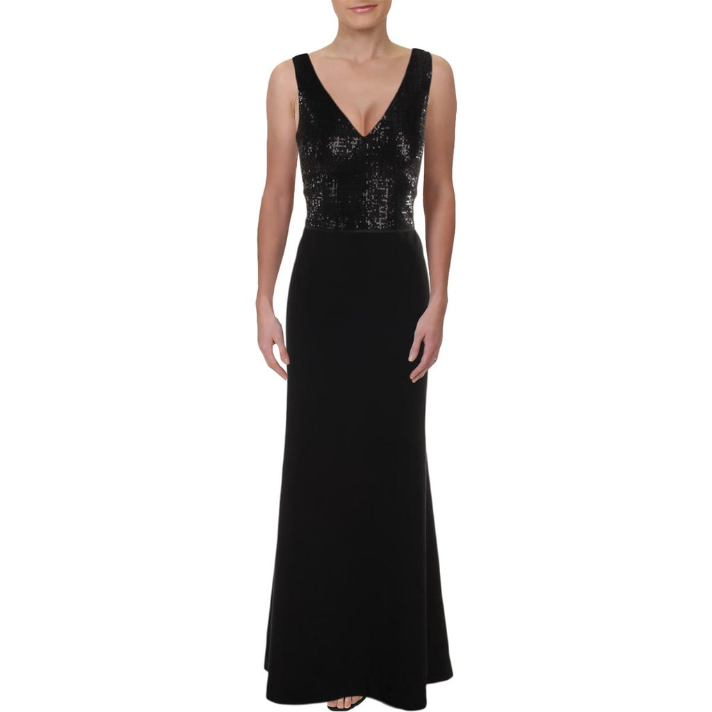 Yieldings Discount Clothing Store's Sequin Jersey Gown by Lauren by Ralph Lauren in Black Multi