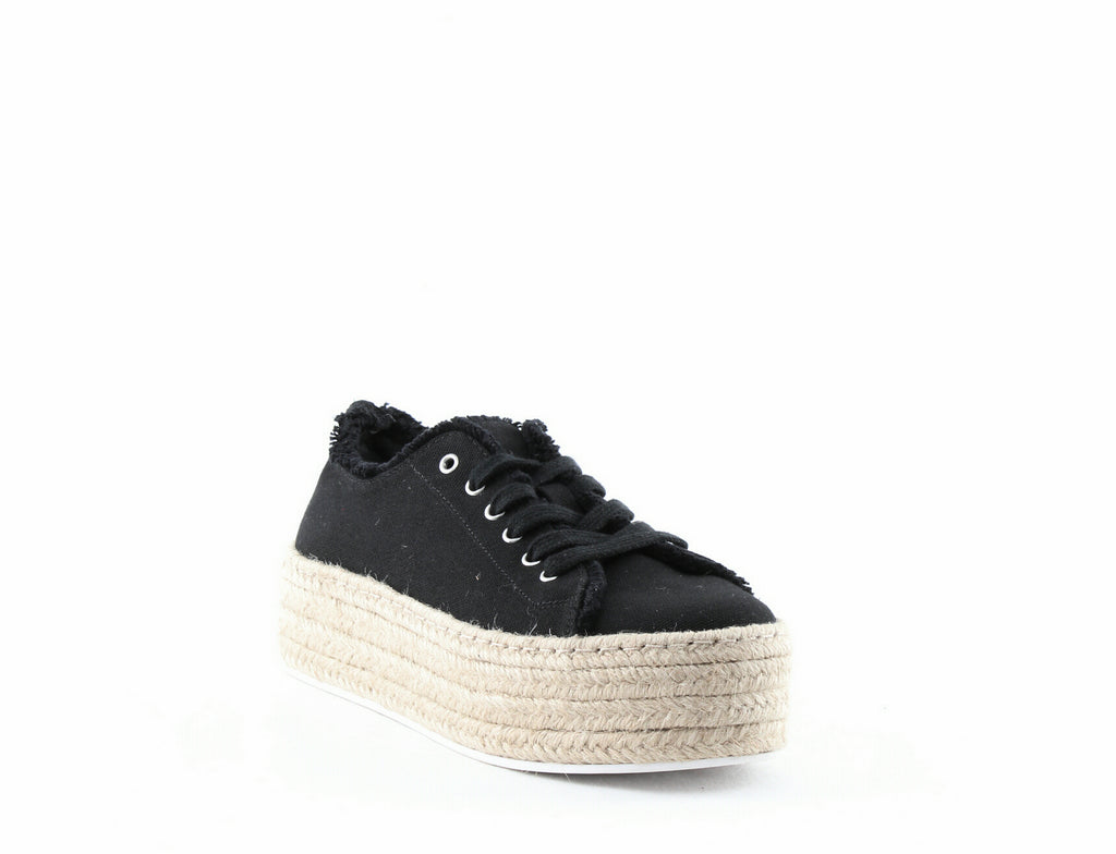 Yieldings Discount Shoes Store's Luana Espadrille Platform Sneakers by Schutz in Black
