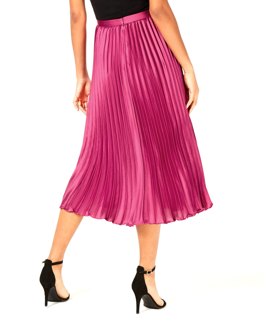 Yieldings Discount Clothing Store's Talia Pleated a-Line Skirt by Lucy Paris in Magenta