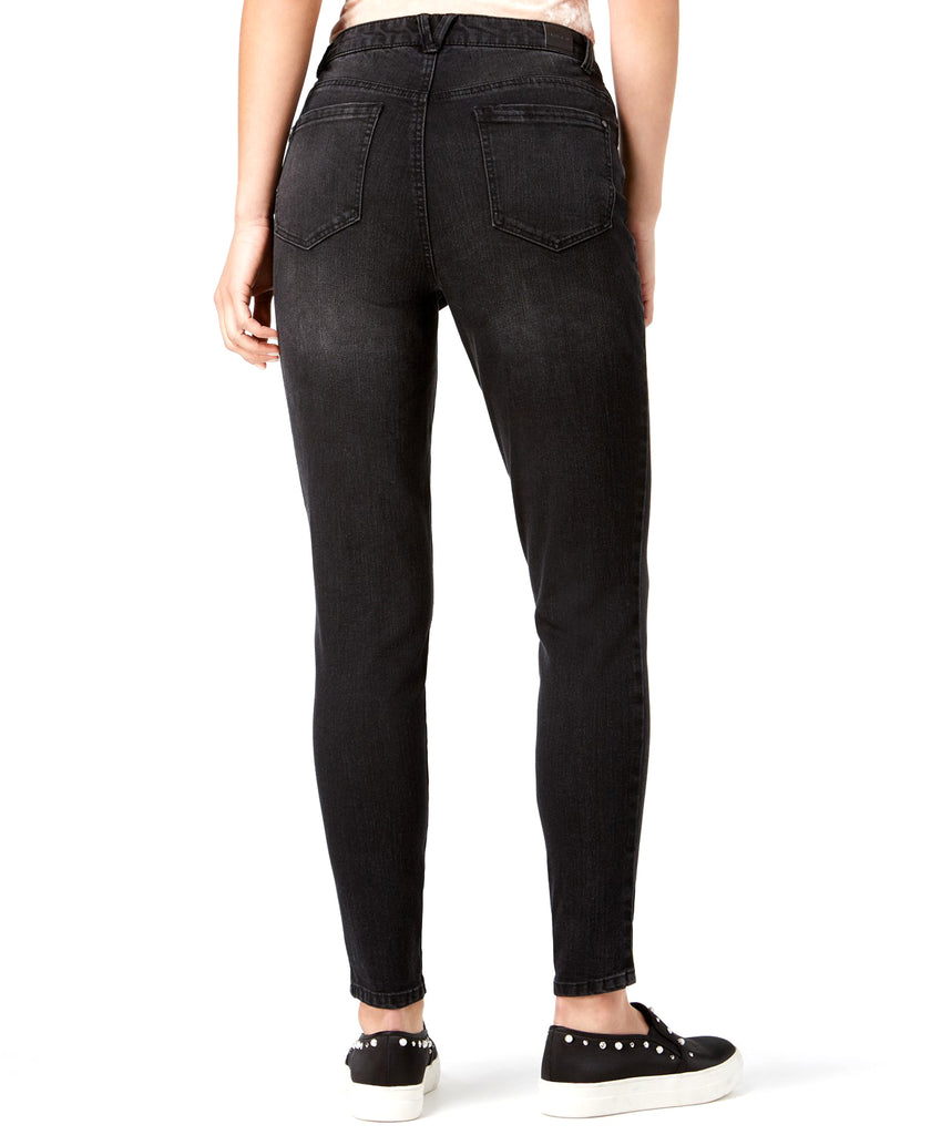Yieldings Discount Clothing Store's Lace-up Skinny Jeans by Rewind in Black