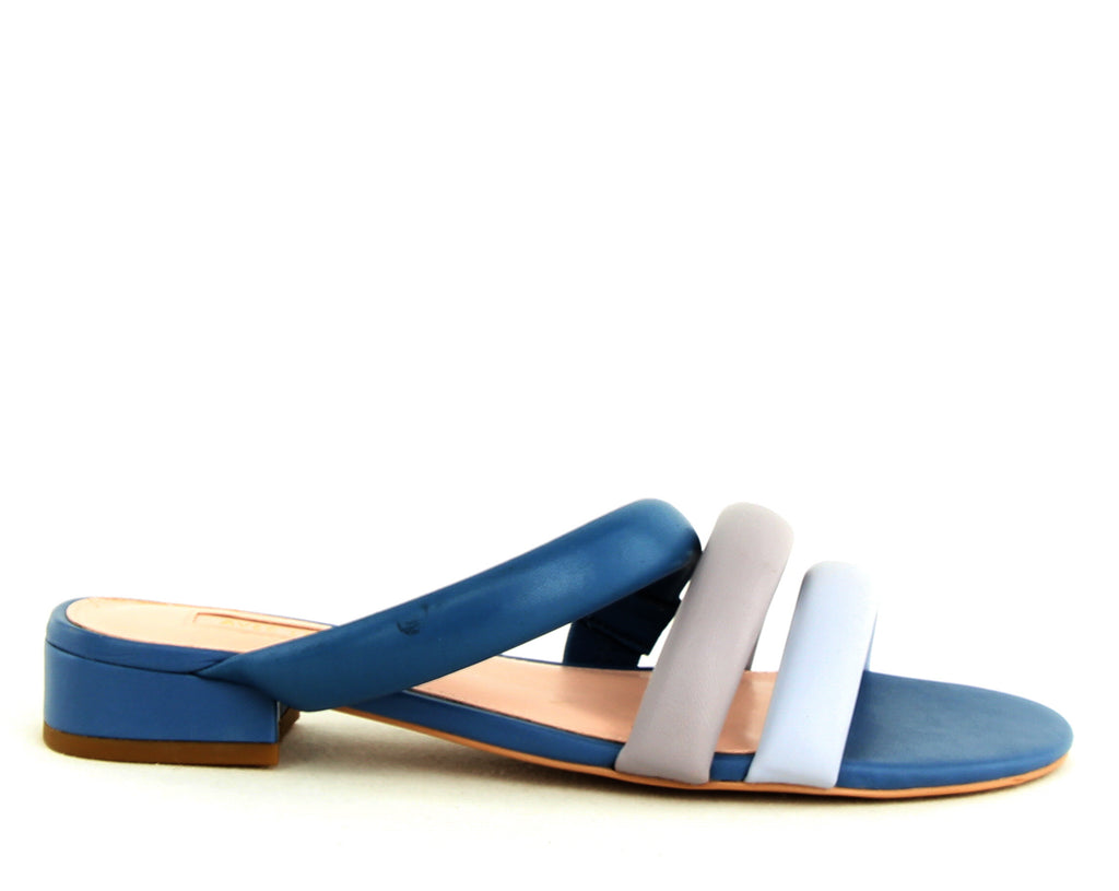 Yieldings Discount Shoes Store's Carla Slides by Avec Les Filles in China Blue