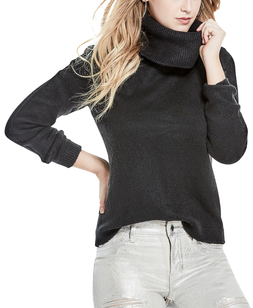 Yieldings Discount Clothing Store's Briella Crossback Sweater by Guess in Jet Black