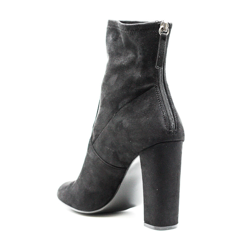 Yieldings Discount Shoes Store's Brisk Block Heel Boots by Steve Madden in Black