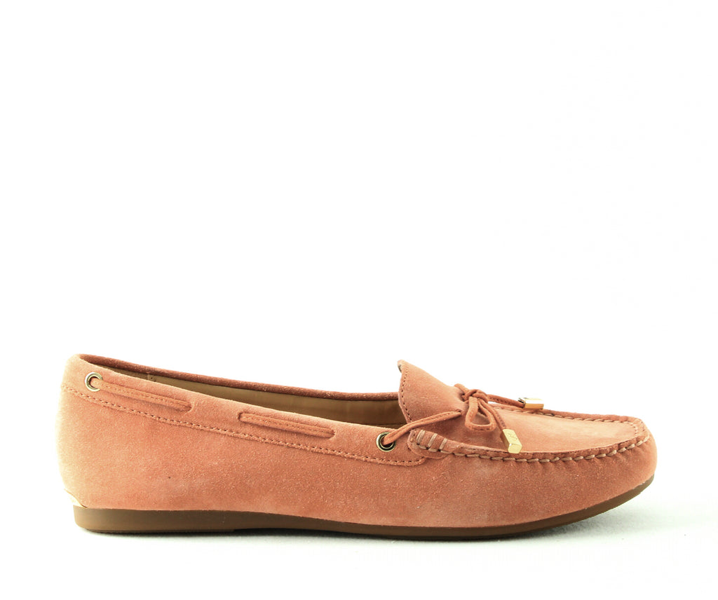 Yieldings Discount Shoes Store's Sutton Suede Moccasins by MICHAEL Michael Kors in Terra