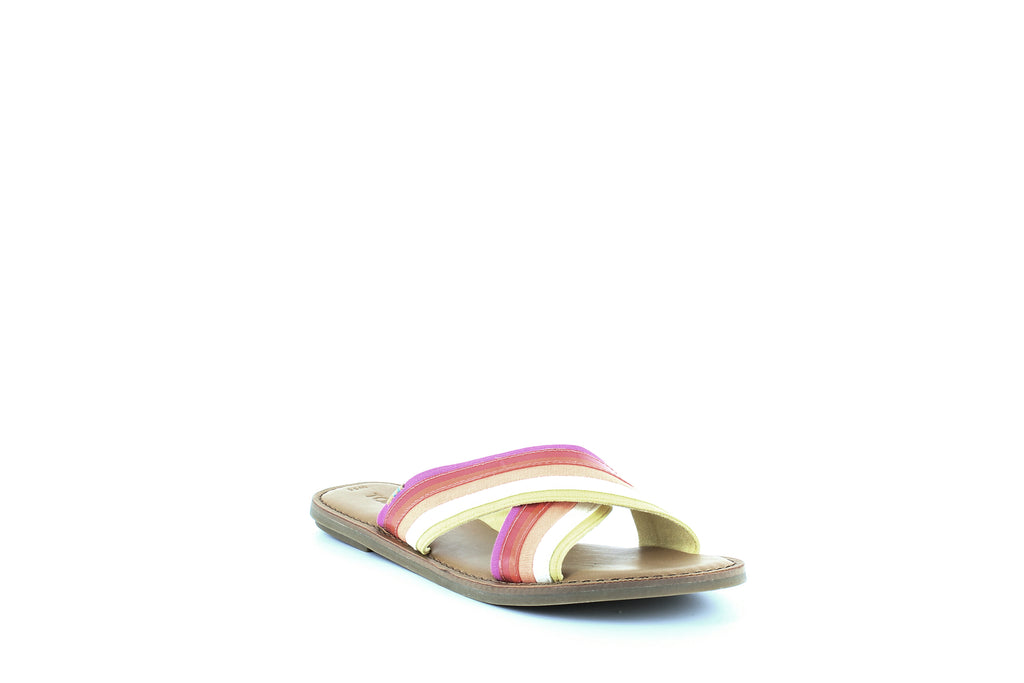 Yieldings Discount Shoes Store's Viv Slide Sandals by Toms in Persimmon Multi
