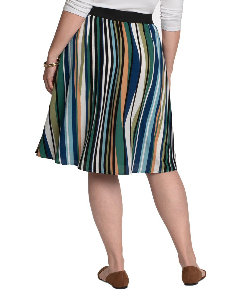Yieldings Discount Clothing Store's Boardwalk Bliss Skirt by Kiyonna in Between the Lines