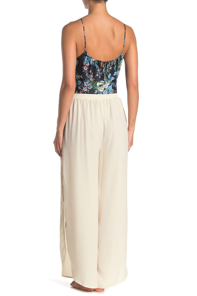 Yieldings Discount Clothing Store's She's a Dime Split-Leg Drawstring Pants by Free People in Canvas