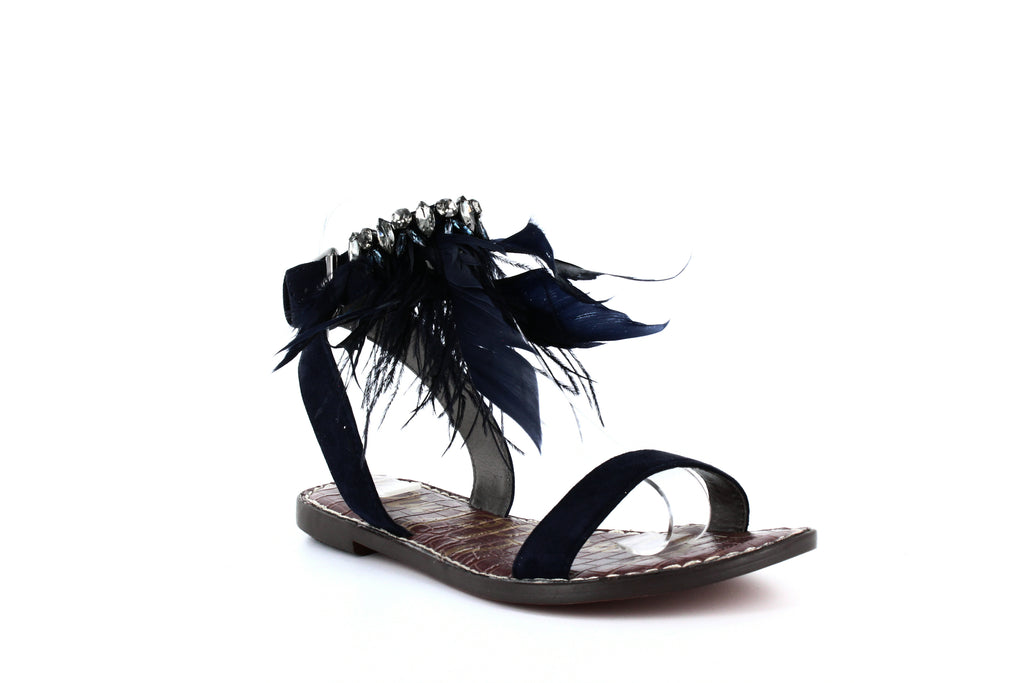 Yieldings Discount Shoes Store's Genevia Flat Sandals by Sam Edelman in Navy
