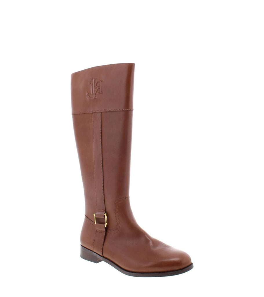 Yieldings Discount Shoes Store's Bernadine Riding Boots by Lauren by Ralph Lauren in Burnished Calf