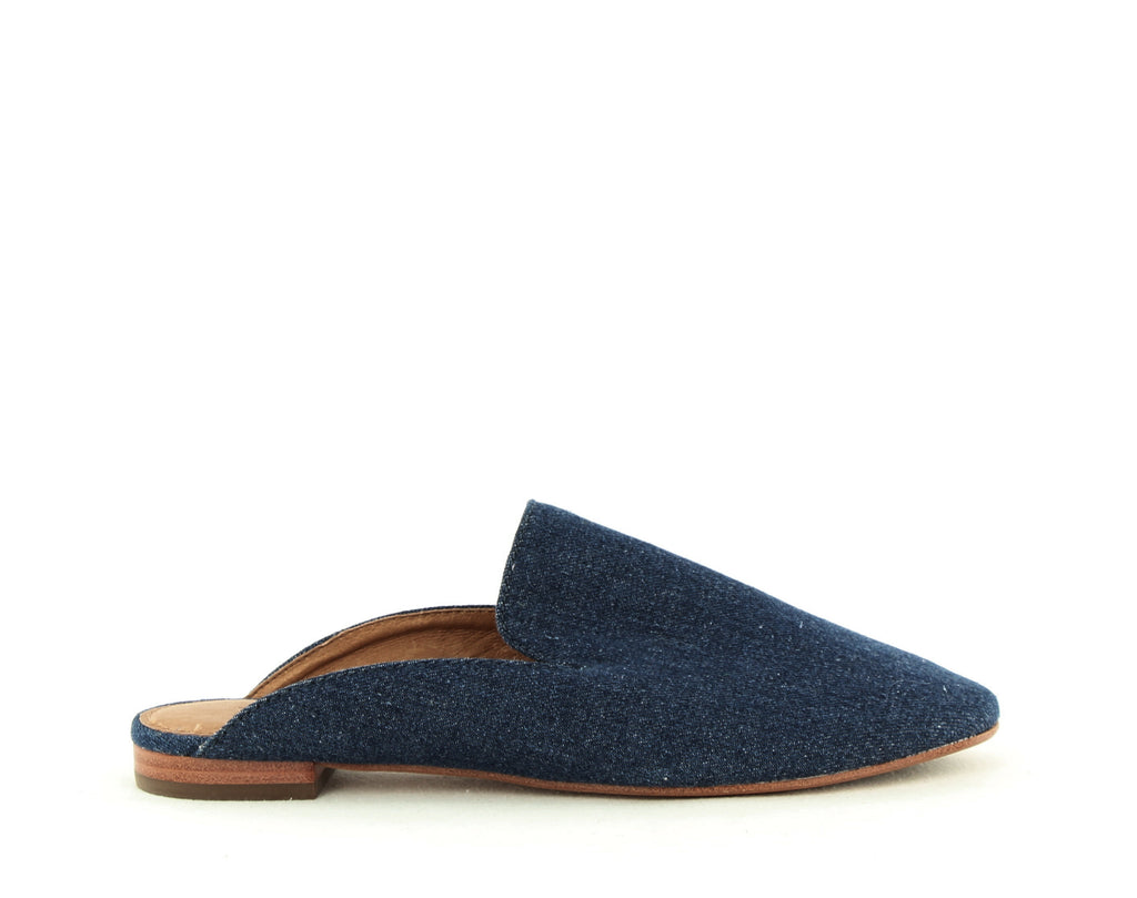 Yieldings Discount Shoes Store's Gwen Slide On Mules by Frye in Indigo