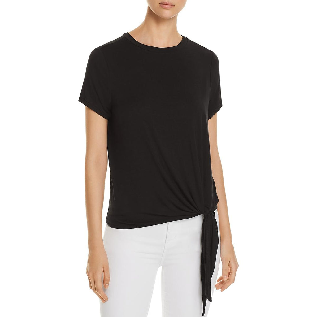 Yieldings Discount Clothing Store's Tie-Hem Tee by A+A Collection in Black