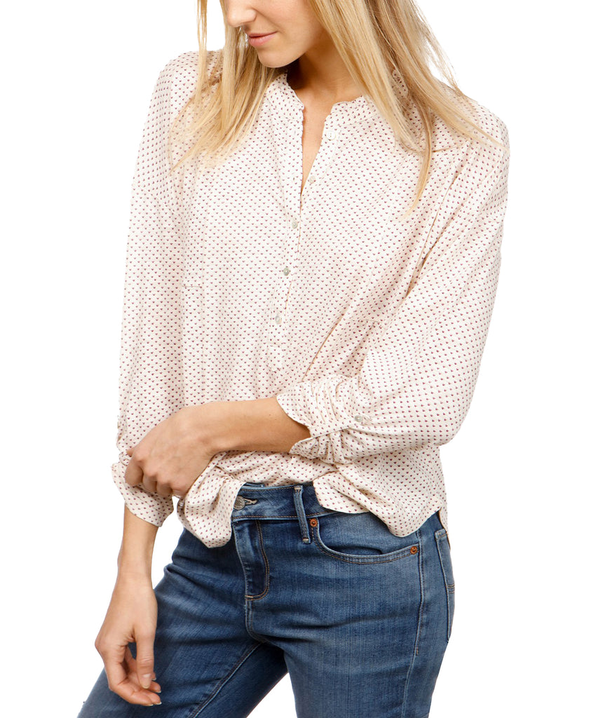 Lucky Brand | Henley Printed Top