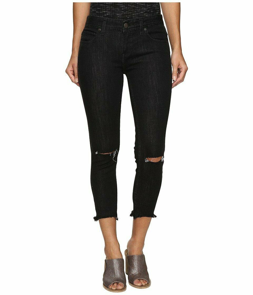 Yieldings Discount Clothing Store's Destroyed Ankle Skinny Jeans by Free People in Black