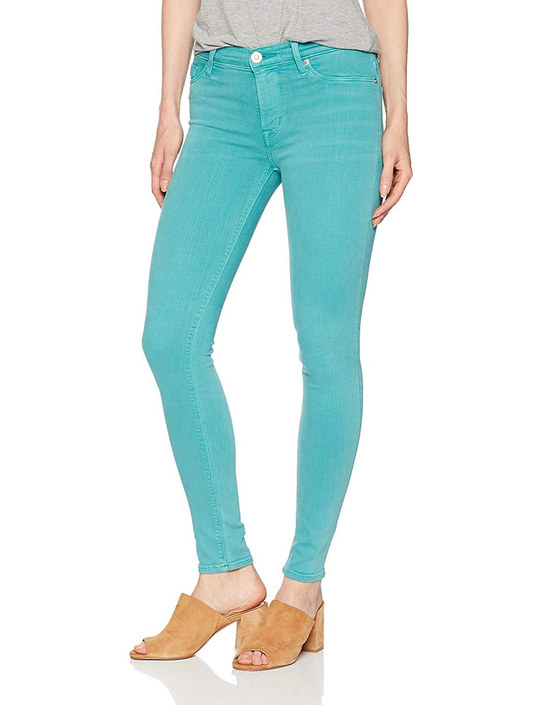 Yieldings Discount Clothing Store's Nico Mid Rise Super Skinny Ankle Jeans by Hudson in Green