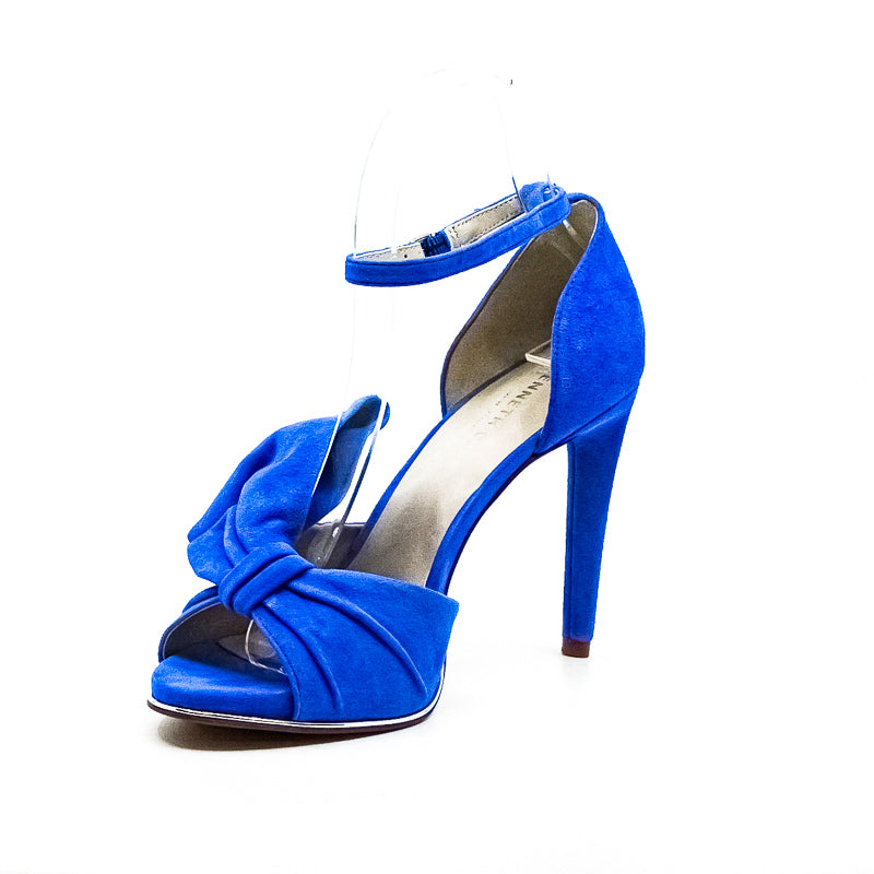 Yieldings Discount Shoes Store's Blaine Heel Sandals by Kenneth Cole in Cerulean