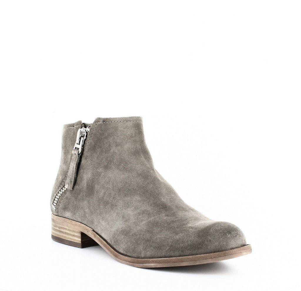 Yieldings Discount Shoes Store's Vesa Suede Zip Booties by Dolce Vita in Dark Taupe