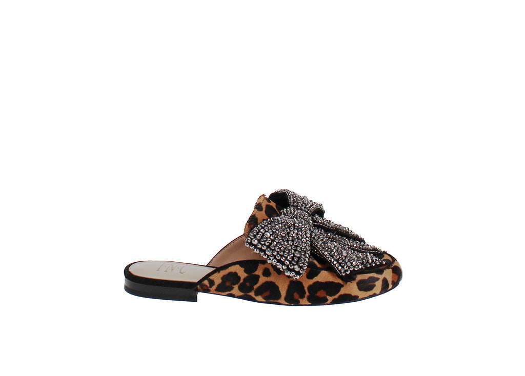 Yieldings Discount Shoes Store's Gannie Slip-On Mule Loafer by INC in Dark Leopard
