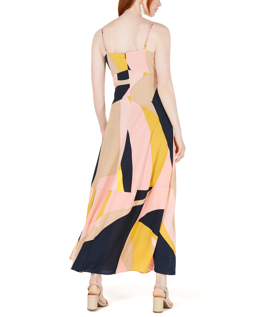 Bar III | Colorblocked Double-Slit Maxi Dress