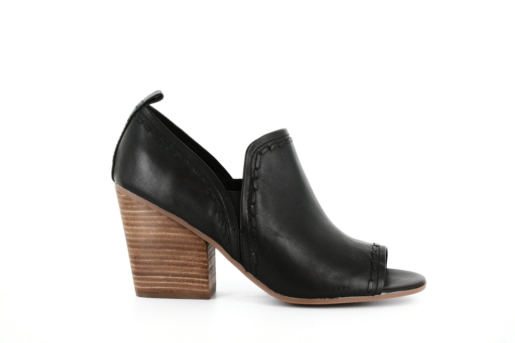 Yieldings Discount Shoes Store's Anna Peep-Toe Booties by Lucca Lane in Black