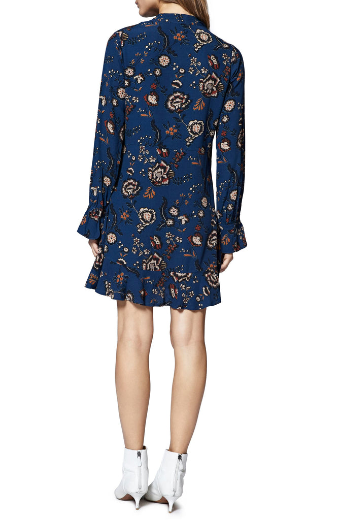 Yieldings Discount Clothing Store's Harvest Moon Floral Bell Sleeves Casual Dress by Sanctuary in Blue Life