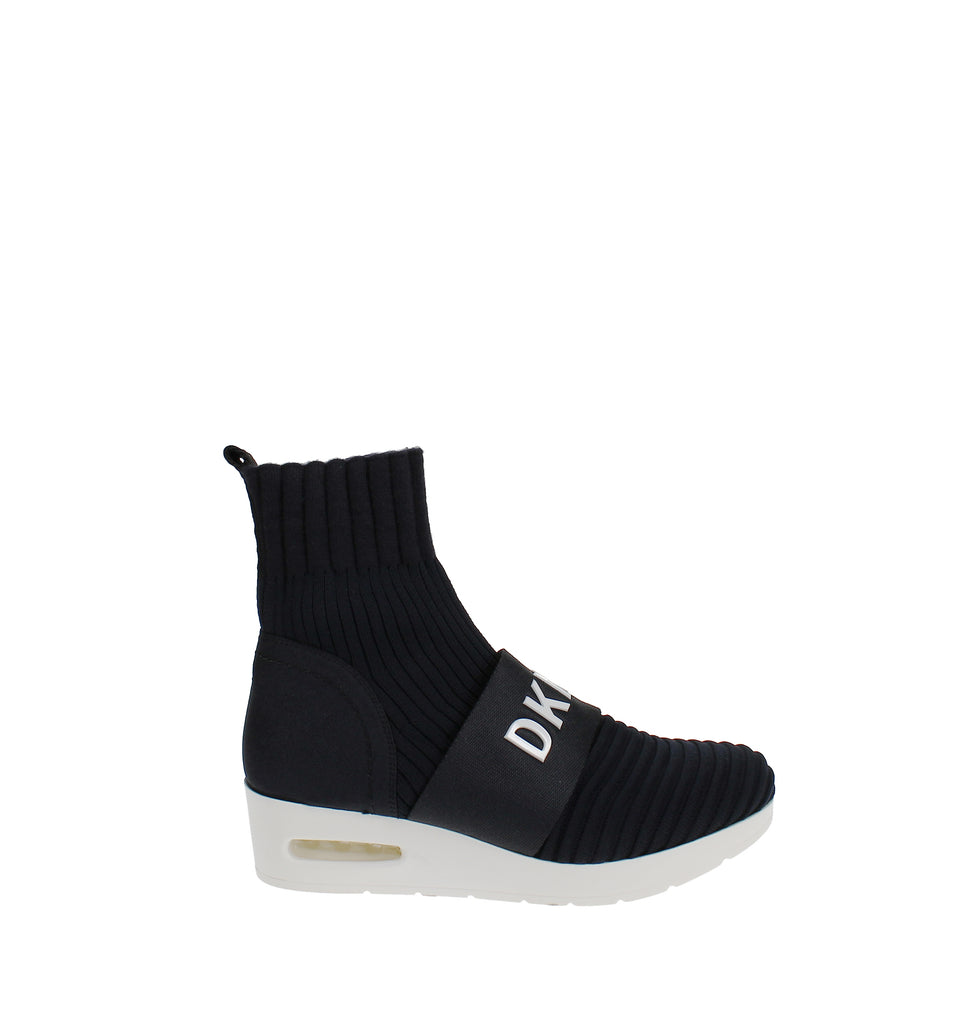Yieldings Discount Shoes Store's Anna Hitop Wedge Sneakers by DKNY in Navy