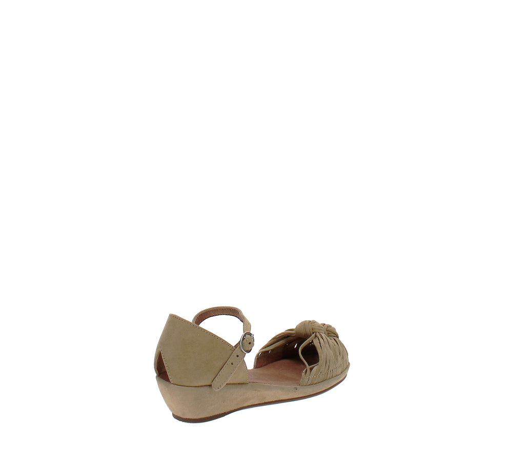Yieldings Discount Shoes Store's Lily Knot Sandal by Gentle Souls By Kenneth Cole in Pale Yellow