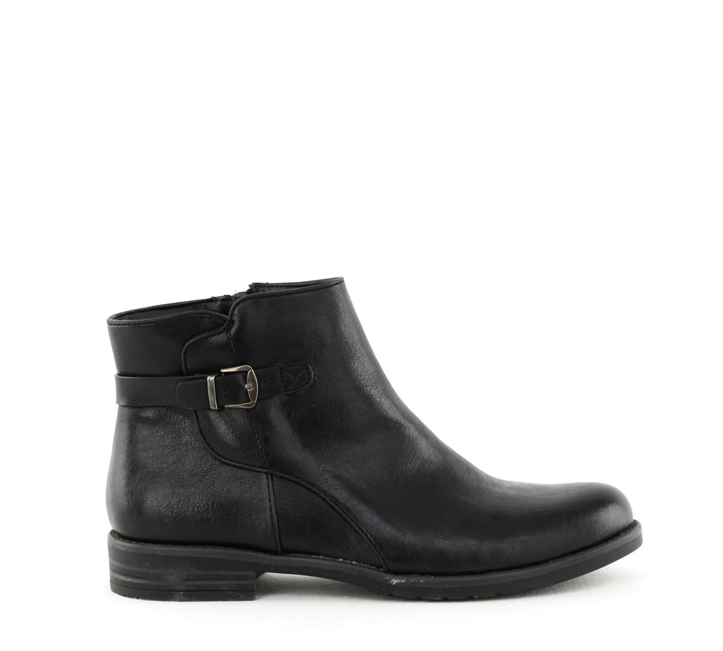 Yieldings Discount Shoes Store's Caine Ankle Bootie by Baretraps in Black