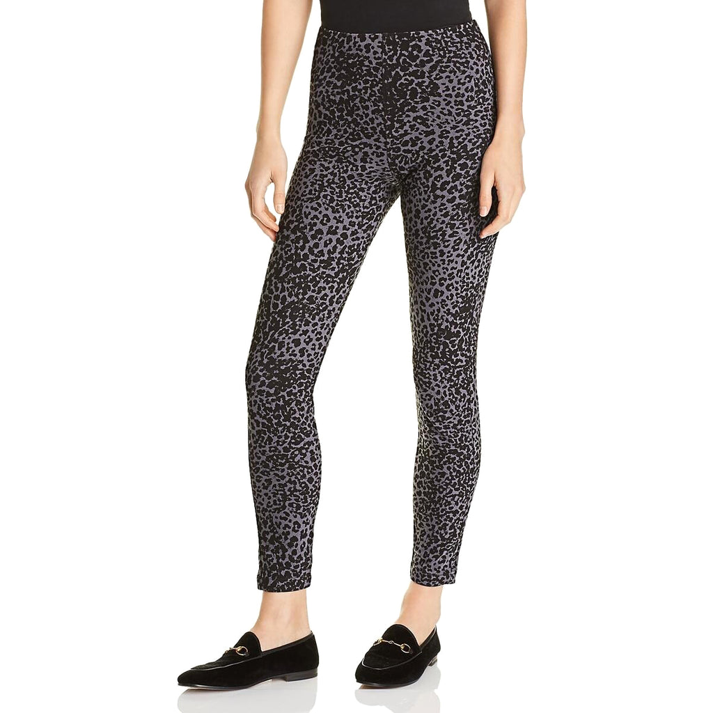 Yieldings Discount Clothing Store's Toothpick Leopard-Print Denim Leggings by Lysse in Black Leopard