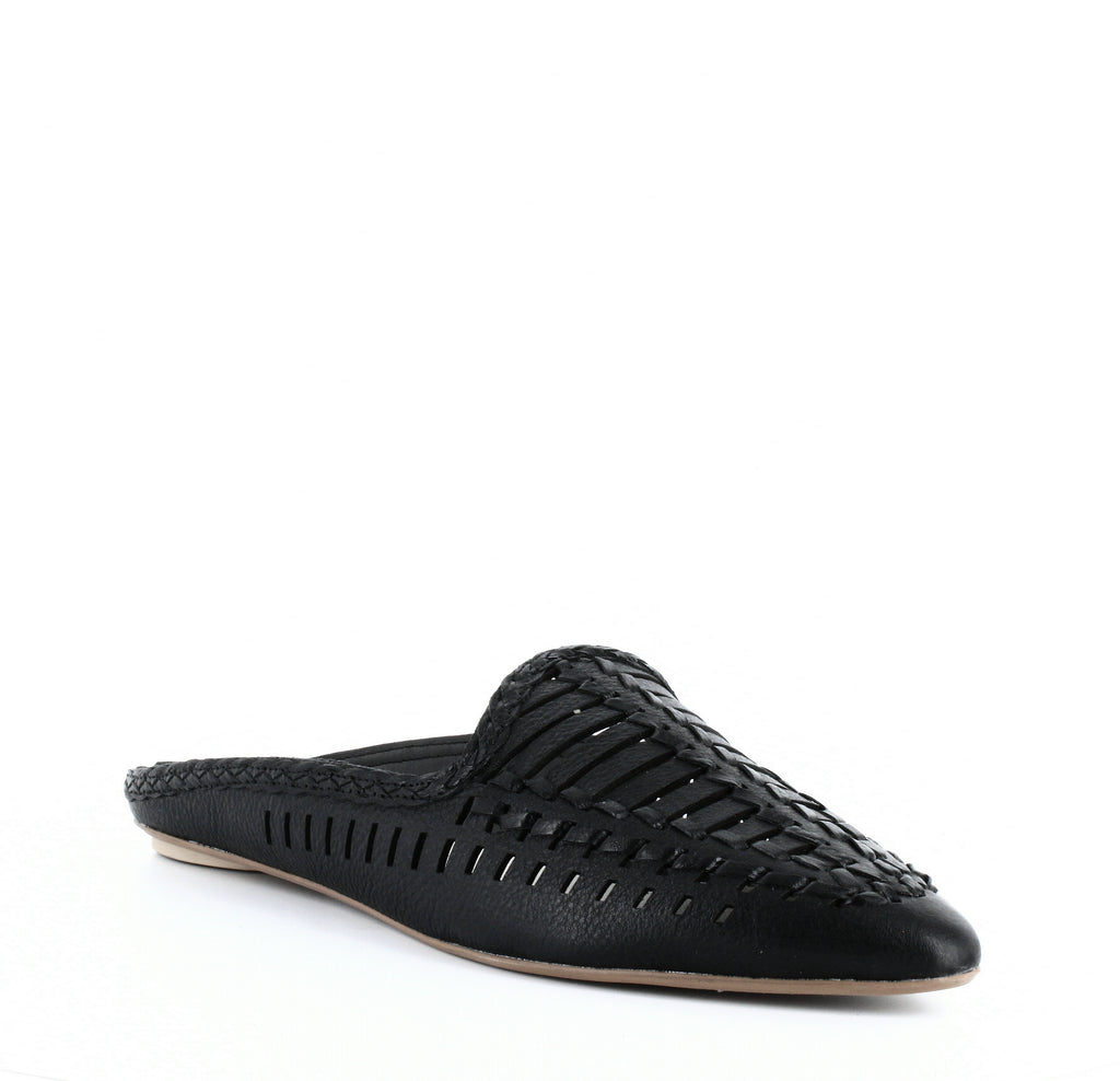 Yieldings Discount Shoes Store's Ginny Woven Mules by Dolce Vita in Black
