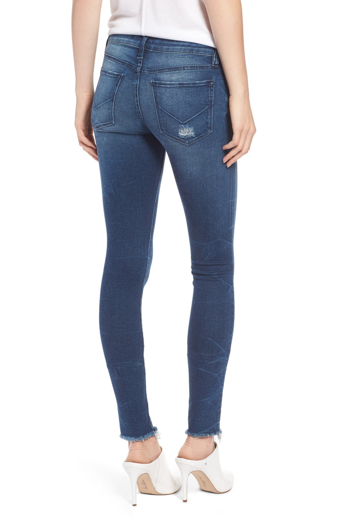 Yieldings Discount Clothing Store's Krista Raw-Hem Skinny Jeans by Hudson in Parkway