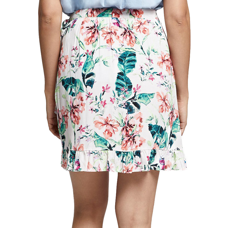 Yieldings Discount Clothing Store's Tropicana Printed Wrap Skirt by Sanctuary in Paradise