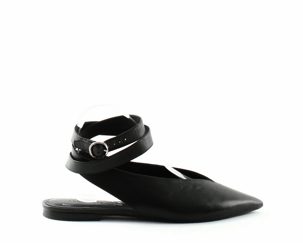 Yieldings Discount Shoes Store's Cory Leather Slingback Flats by AllSaints in Black