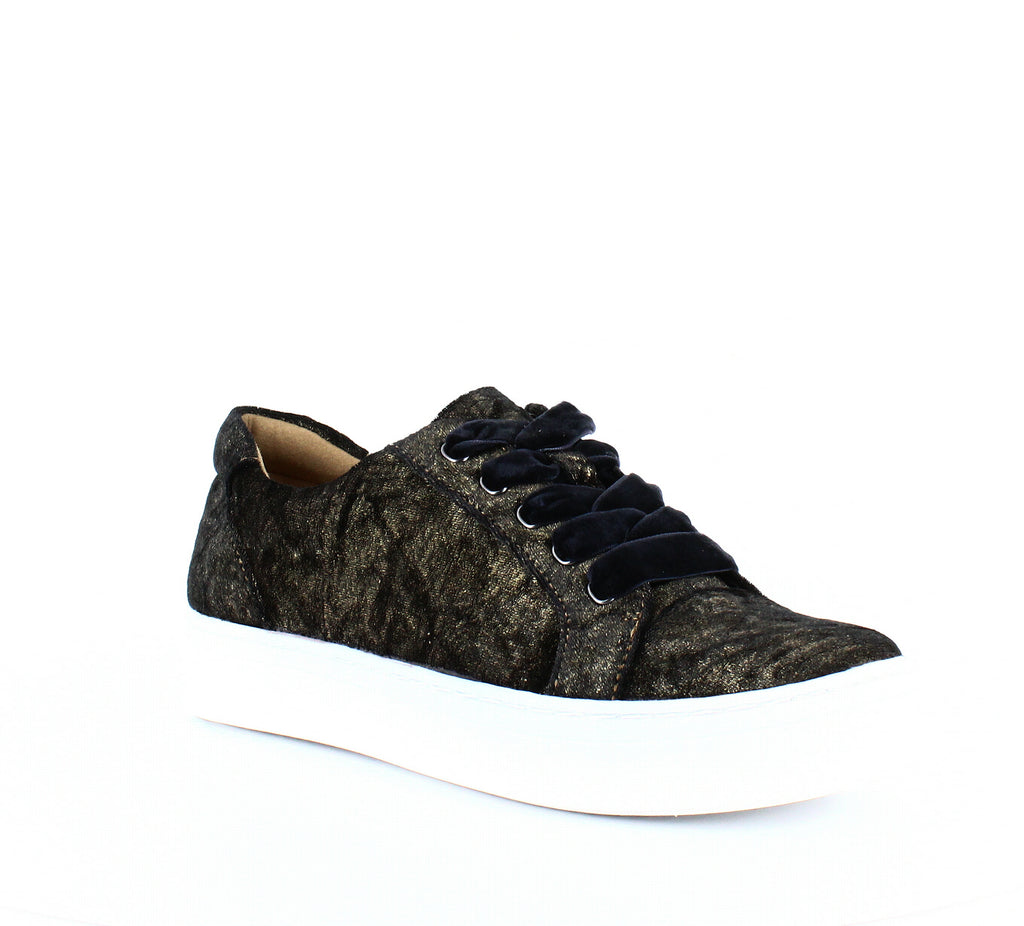 Yieldings Discount Shoes Store's Cairo Sneakers by Naturalizer in Gold Velvet