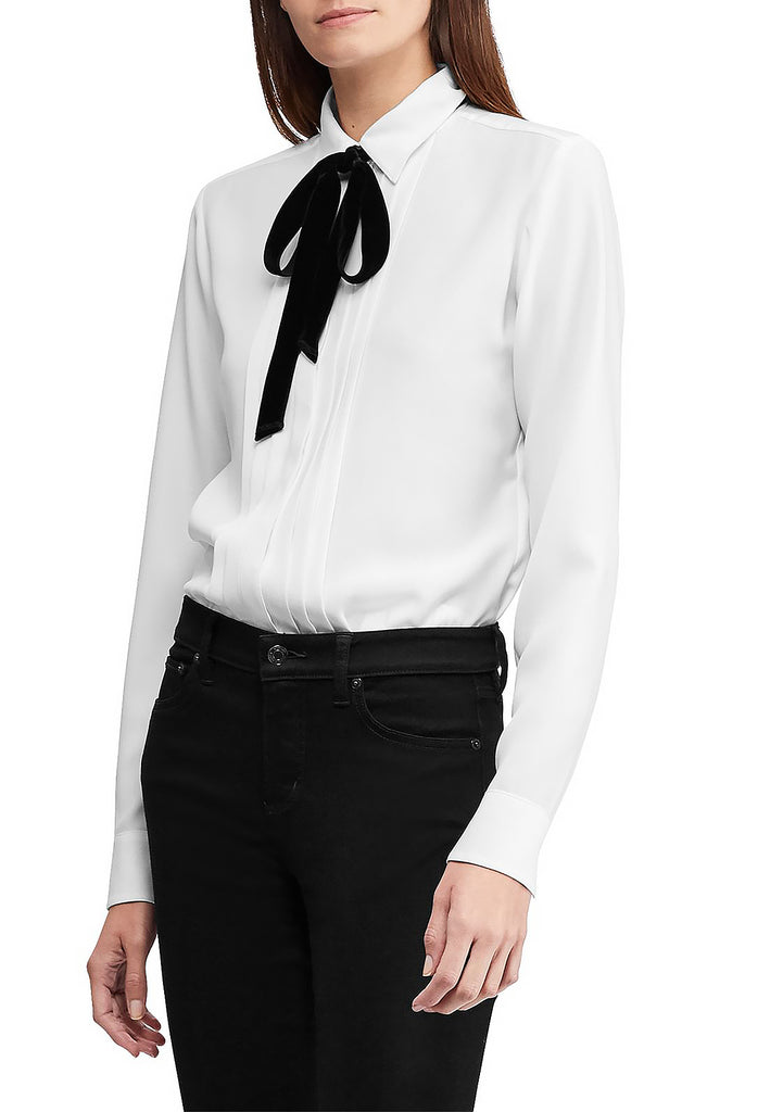 Yieldings Discount Clothing Store's Triple-Georgette Shirt by Lauren by Ralph Lauren in White