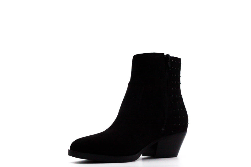 Yieldings Discount Shoes Store's Velina Fabric Heel Boots by Guess in Black