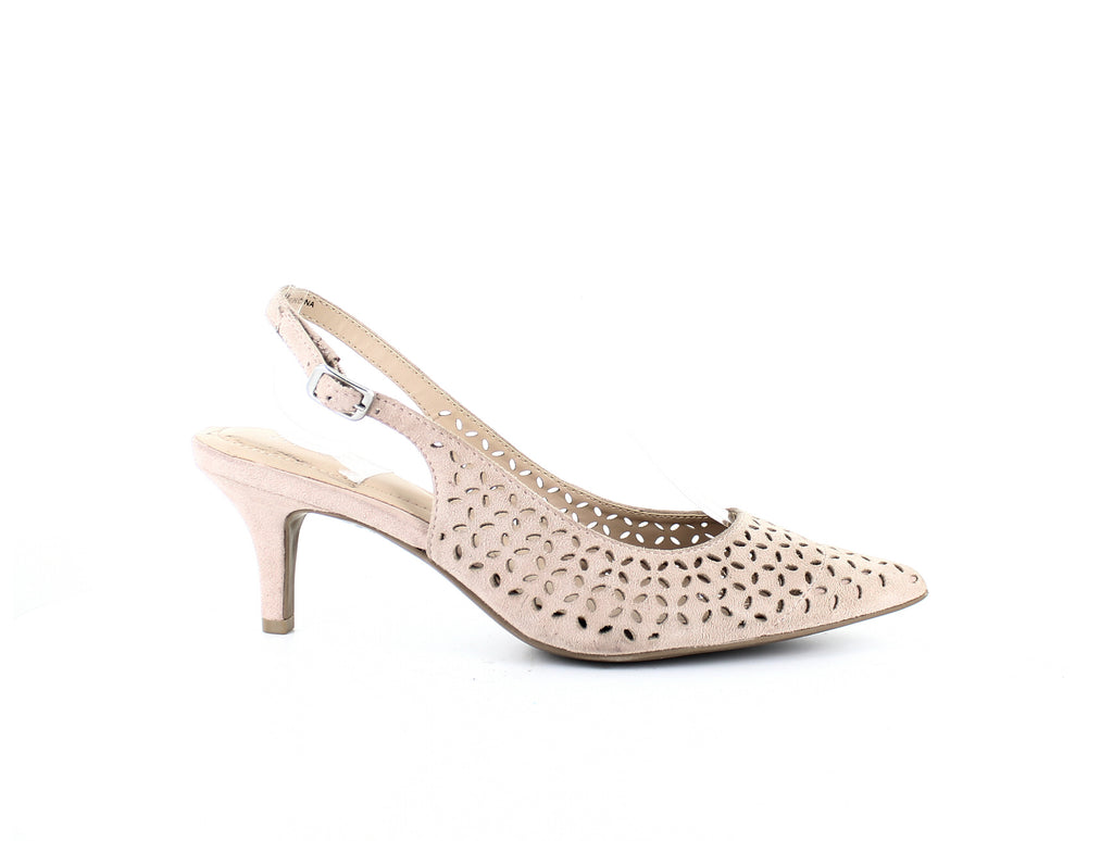 Yieldings Discount Shoes Store's Babbsy Slingback Pumps by Alfani in Blush