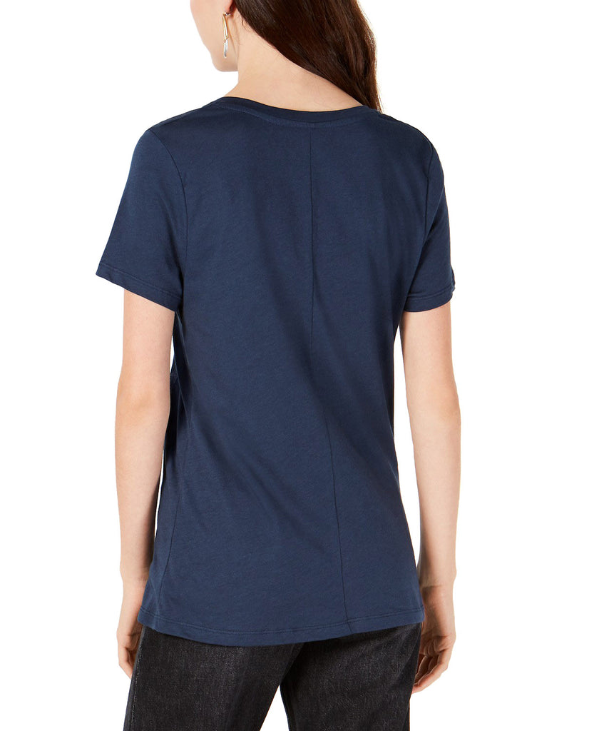 Yieldings Discount Clothing Store's Embroidered Stars T-Shirt by Carbon Copy in Navy