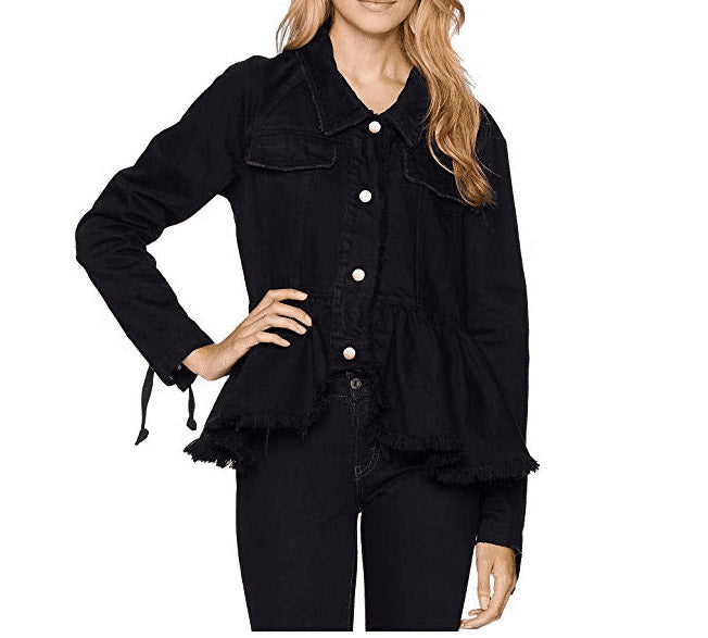 Yieldings Discount Clothing Store's William Denim Military Jacket by Free People in Black