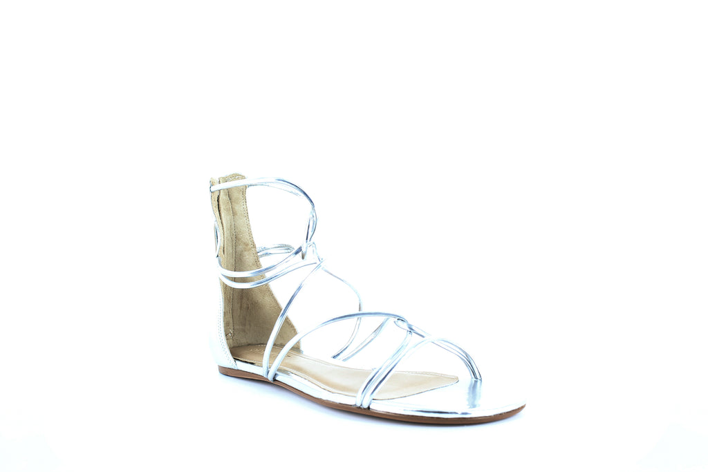 Yieldings Discount Shoes Store's Fabia Metallic Gladiator Sandals by Schutz in Prata