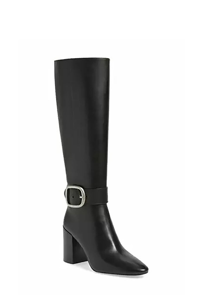 Yieldings Discount Shoes Store's Evelyn Buckle Boots by Coach in Black