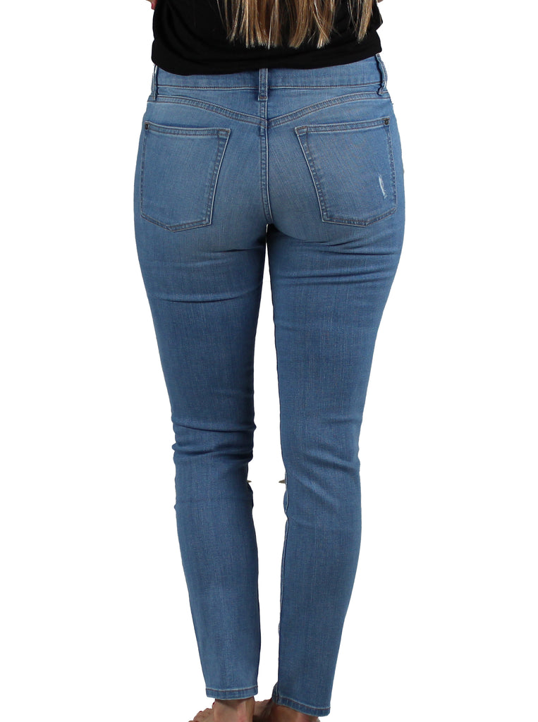 Yieldings Discount Clothing Store's JFK - Skinny Jeans by Warp + Weft in Light Distress