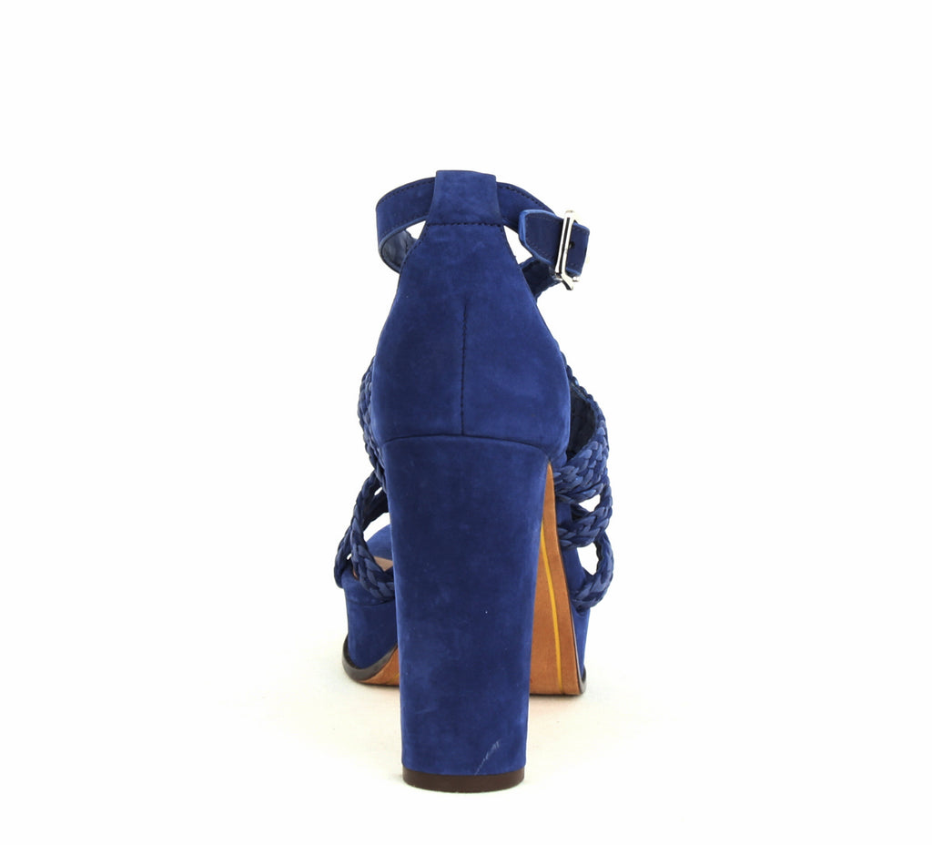 Yieldings Discount Shoes Store's Aleena Block Heel Sandals by Lauren by Ralph Lauren in Spectre Blue