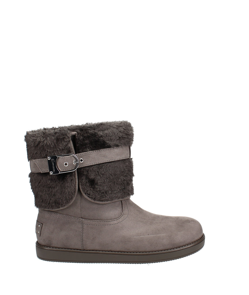 Yieldings Discount Shoes Store's Aussie Winter Boots by G By Guess in Dark Grey Fabric