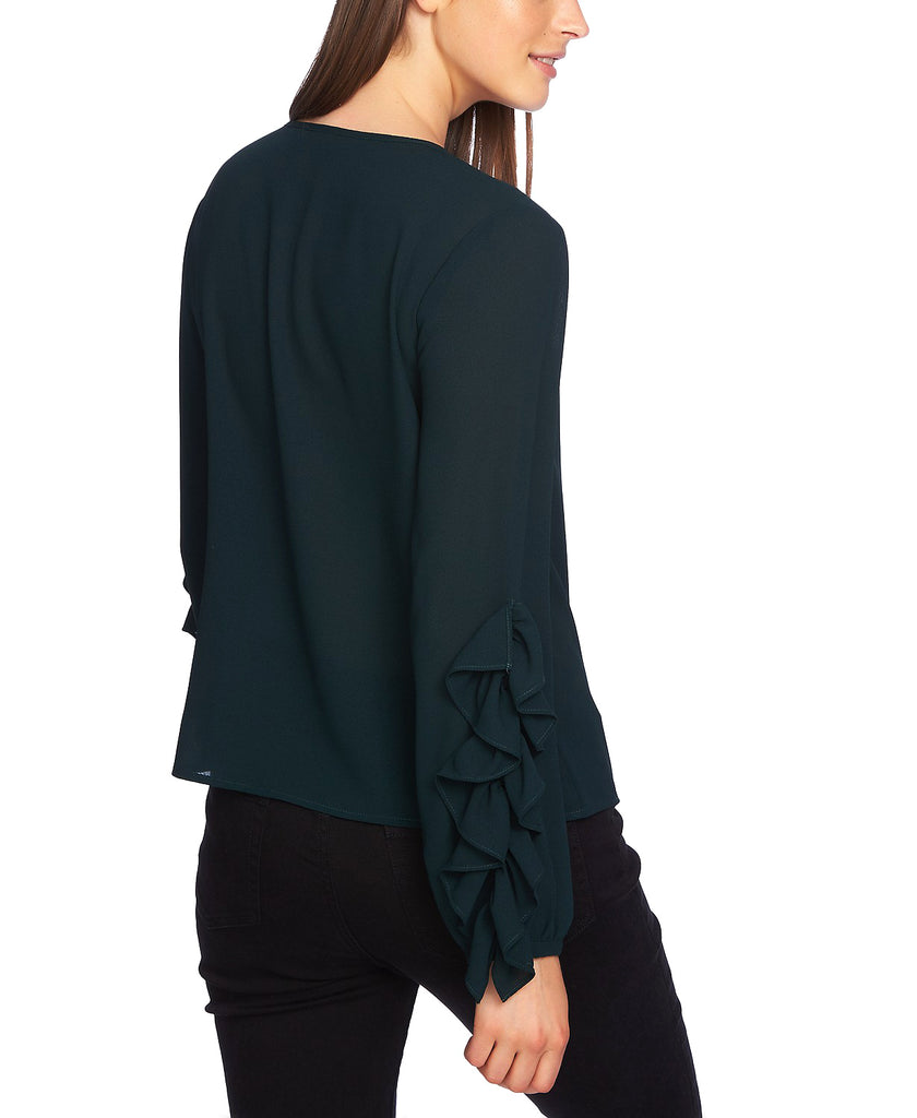 Yieldings Discount Clothing Store's Ruffle Sleeve Blouse by 1.State in Cypress Pine