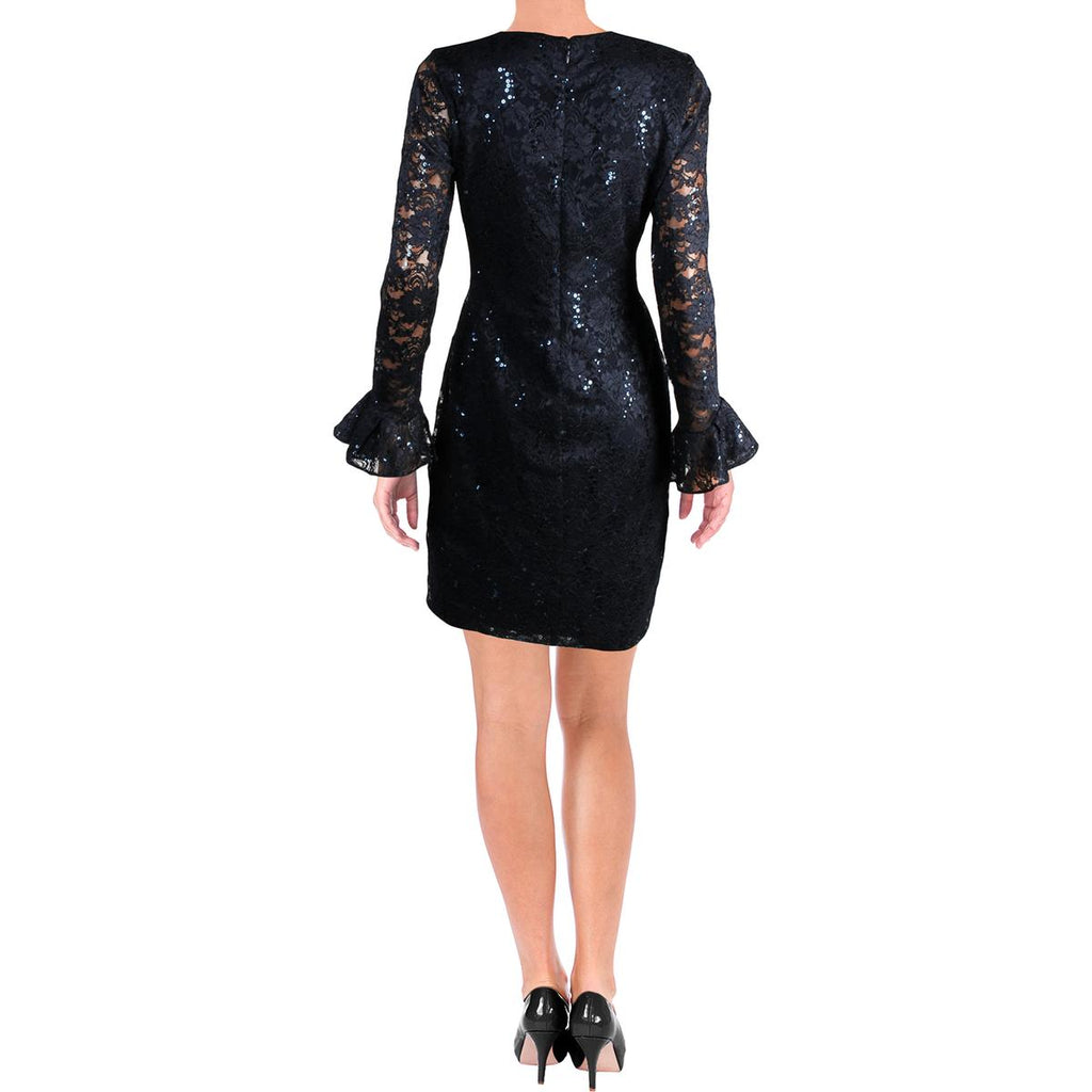 Yieldings Discount Clothing Store's Agnes Sequined Cocktail Dress by Lauren by Ralph Lauren in Navy